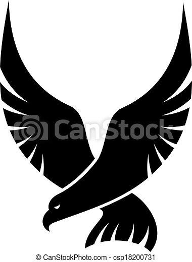 cair, pássaro, falcão - csp18200731