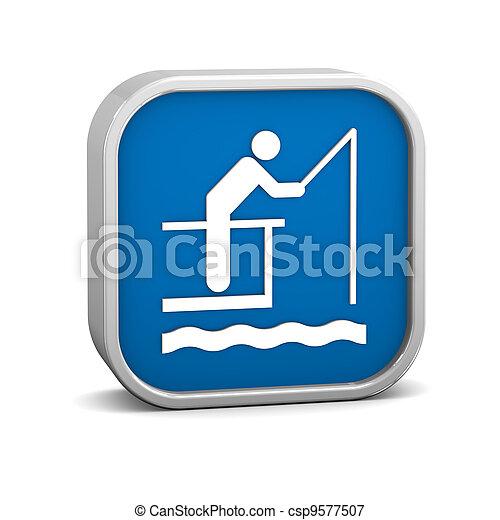 cais, pesca, sinal - csp9577507