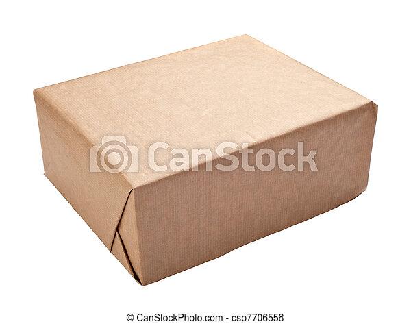 caixa, embrulhando, recipiente, pacote - csp7706558