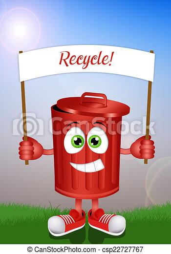 Caixa Engracado Reciclagem Lixo Caixa Engracado Reciclagem