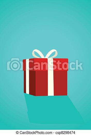 caixa, presente - csp8298474