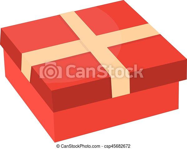 caixa, ribbon., design., presente, apartamento - csp45682672