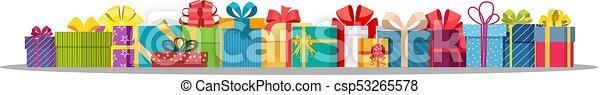caixas, jogo, isolado, presente, white. - csp53265578