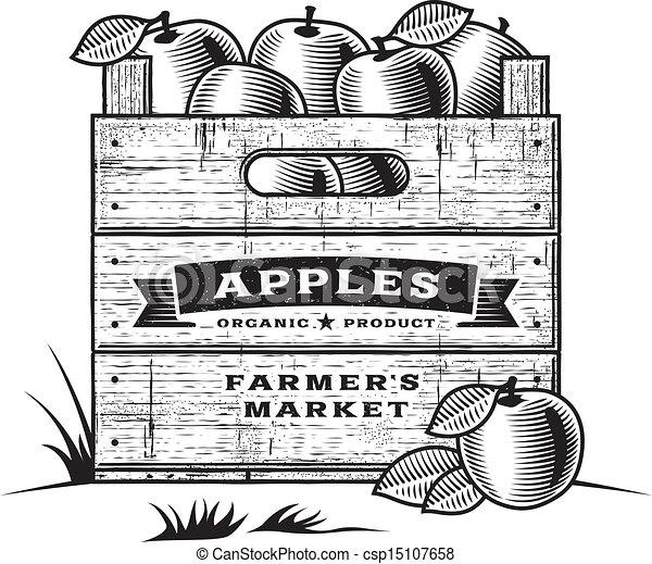 Retro cajón de manzanas B+W - csp15107658