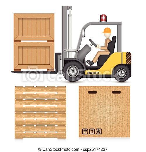 Una caja elevadora - csp25174237