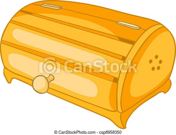 Una caja de pan de la cocina - csp8958350