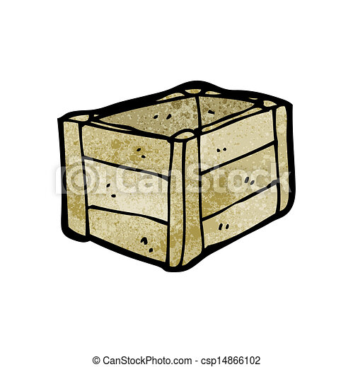 Una caja de madera - csp14866102