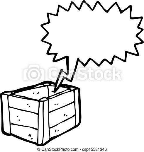 Una caja de madera vacía - csp15531346