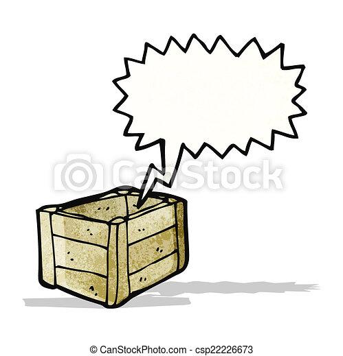 Una caja de madera vacía - csp22226673