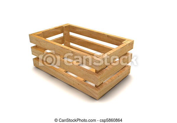 Un cajón de madera - csp5860864