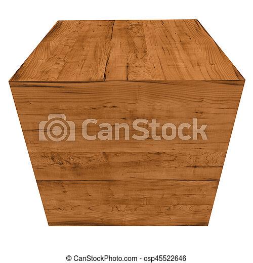 Caja de madera - csp45522646