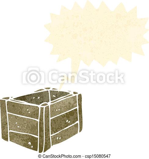 Retro caricatura de madera - csp15080547