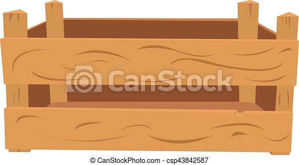 Caja de madera vacía - csp43842587