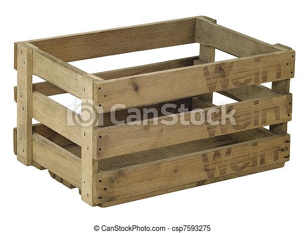 Una caja de vino de madera - csp7593275