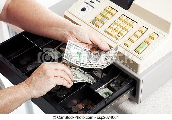 cajón, horizontal, registro, efectivo - csp2674004