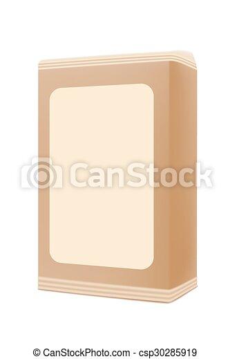 Una caja en blanco - csp30285919