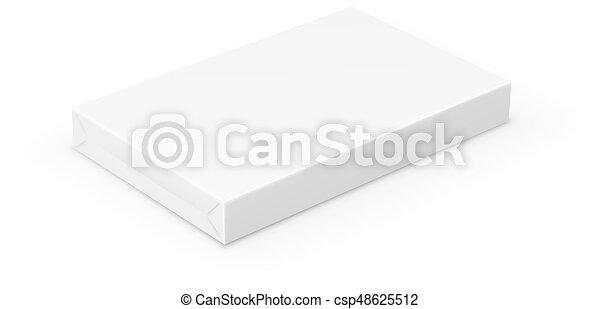 Caja sobre blanco - csp48625512