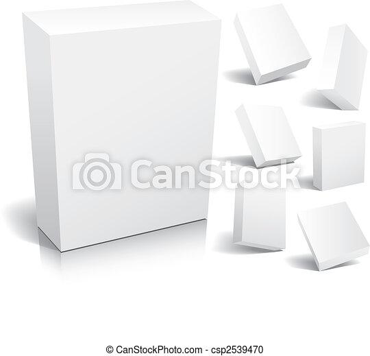 Caja en blanco - csp2539470