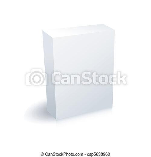 Una caja en blanco - csp5638960