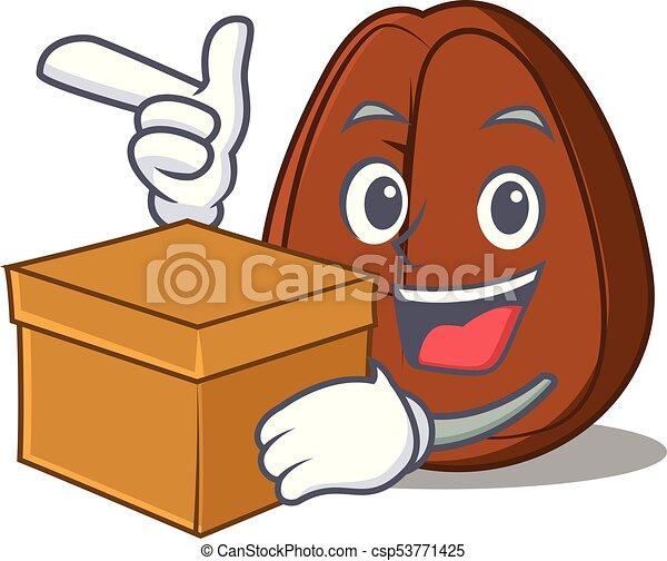 Con dibujos animados de personajes de los frijoles en cajas - csp53771425