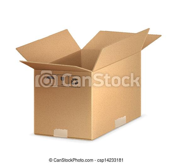 Abre la caja de cartones - csp14233181