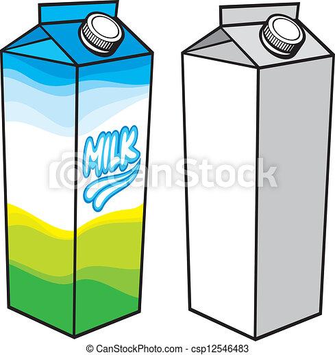 Caja de cartón de leche - csp12546483