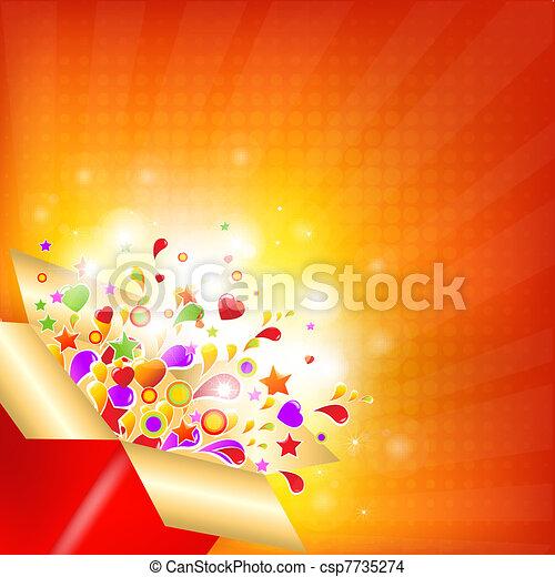 Una caja de regalos colorida - csp7735274