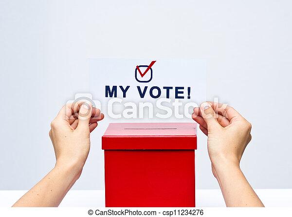 El concepto de elección con urna - csp11234276