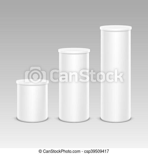 Un set de chips de caja de contenedores de papel para paquete - csp39509417