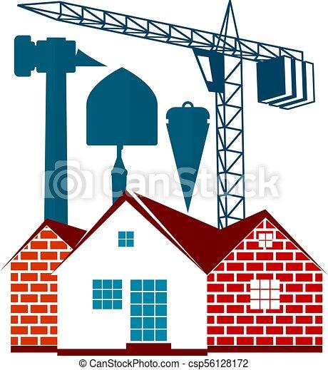 Un símbolo de construcción para los negocios - csp56128172