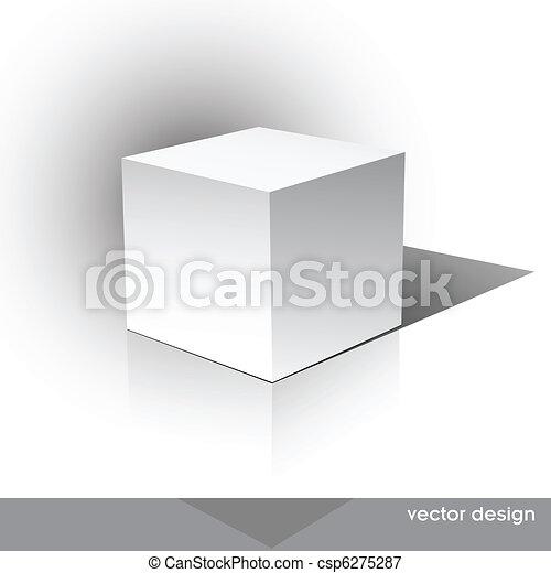 Una caja de paquetes con forma de tubo - csp6275287