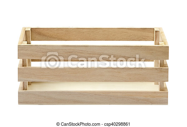 Caja de madera aislada en blanco - csp40298861