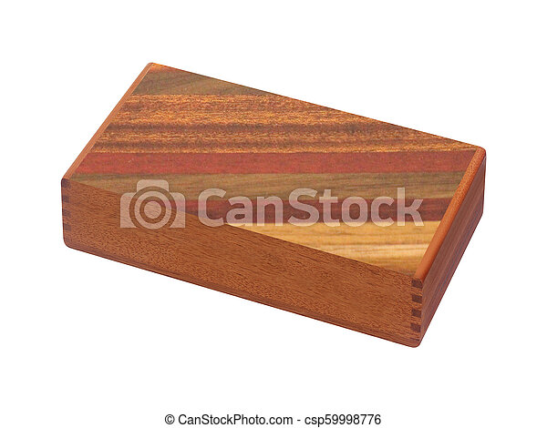 Caja de madera aislada en blanco - csp59998776