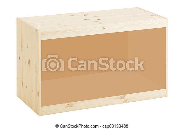 Caja de madera aislada en blanco - csp60133488