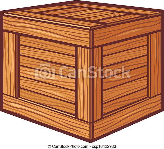 Caja de madera - csp18422933