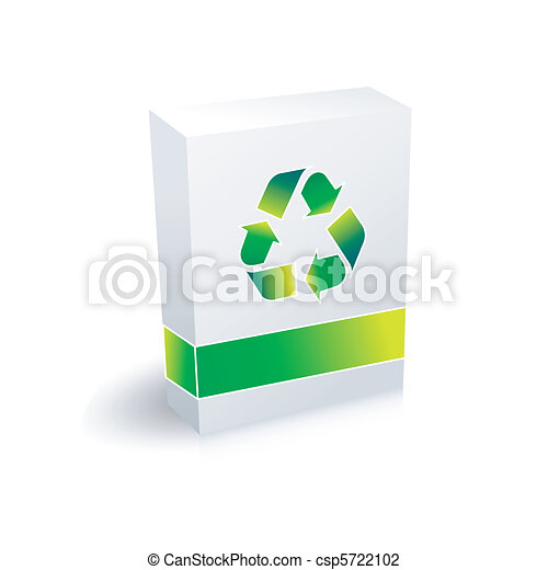 Una caja de reciclaje - csp5722102