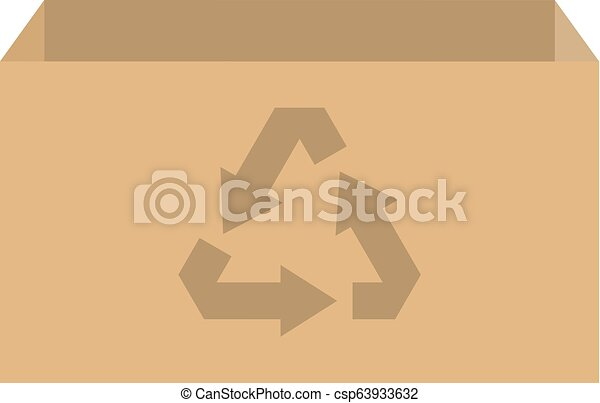 Vector de caja de reciclaje - csp63933632