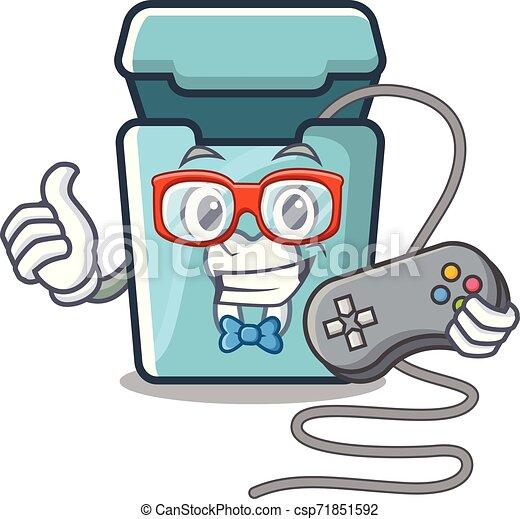Hilo dental en una caja de mascotas - csp71851592