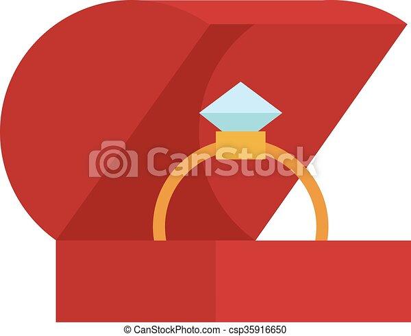 caja, dorado, aislado, plano de fondo, alianza, blanco - csp35916650