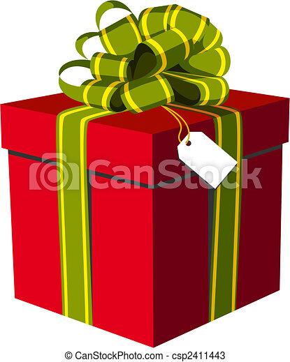 Caja Dorado Regalo Rojo Verde Cinta Hermoso Disponible Box
