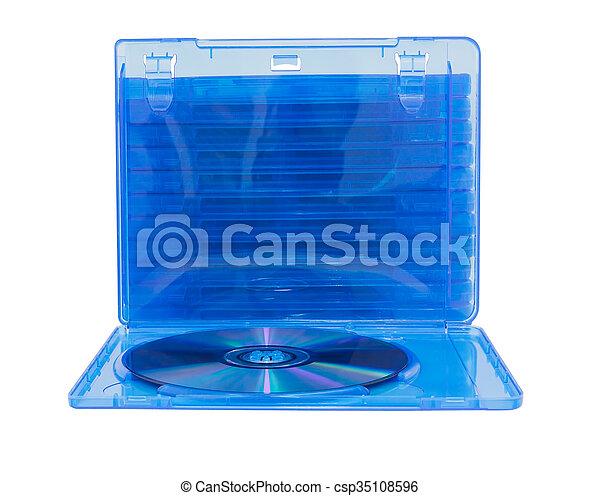 Caja de DVD con disco en blanco - csp35108596
