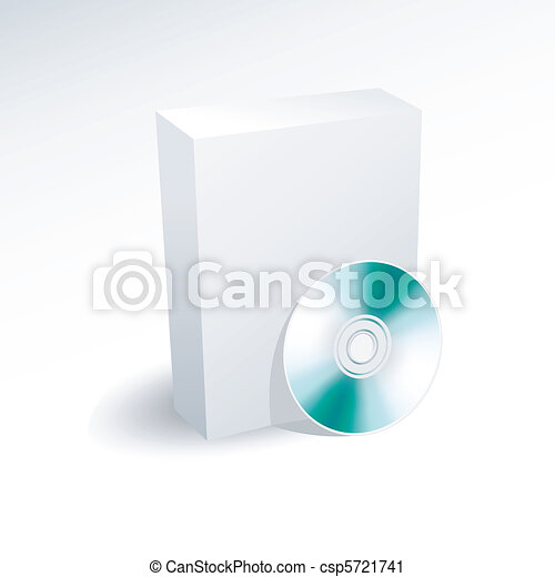 Caja en blanco y DVD, CD, disco - csp5721741
