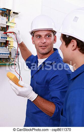 caja, electricistas, prueba, dos, fusible - csp8611370