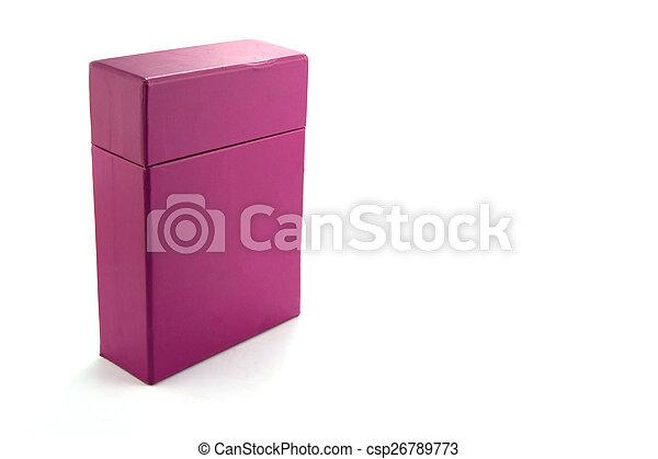 Caja de fondo blanco - csp26789773