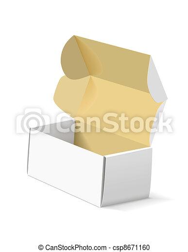 Una caja de embalaje en blanco. - csp8671160