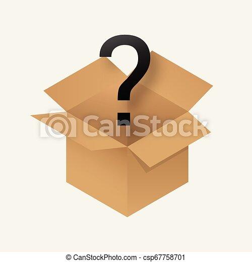 Un ícono de caja misteriosa. - csp67758701