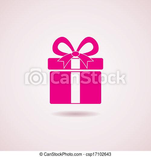 El ícono de la caja de regalos Vector - csp17102643