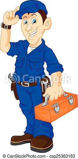 Una caja de herramientas mecánica - csp25363183