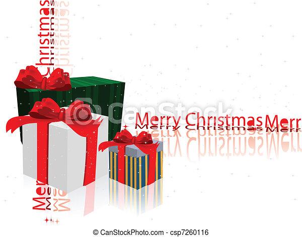 Decoración navideña. Caja - csp7260116