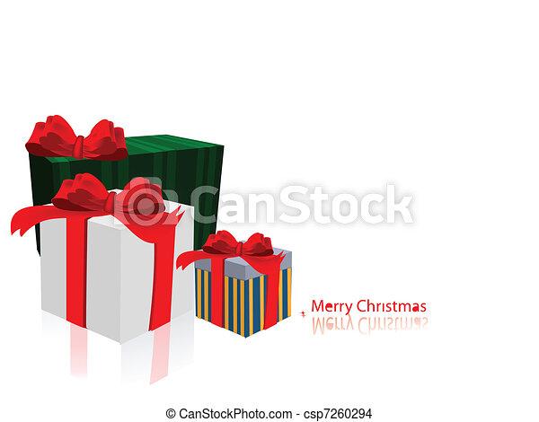 Decoración navideña. Caja - csp7260294